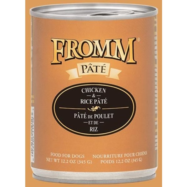 Fromm Chicken & Rice Pate Canned Dog Food, 12.2 oz can