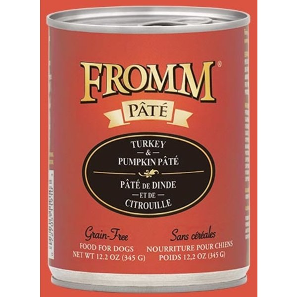 Fromm Turkey & Pumpkin Pate Canned Dog Food, 12.2 oz can