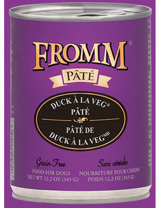 Fromm Duck A La Veg Pate Canned Dog Food, 12.2 oz can