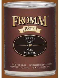 Fromm Turkey Pate Canned Dog Food, 12.2 oz can