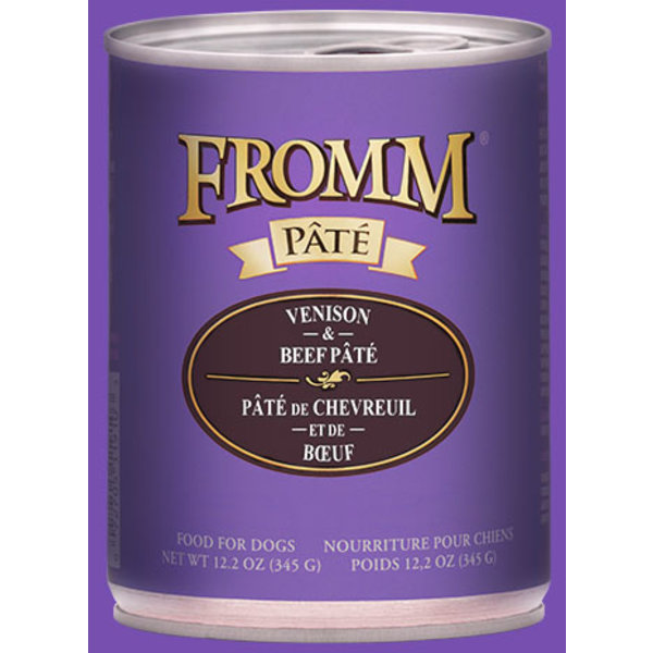 Fromm Venison & Beef Pate Canned Dog Food, 12.2 oz can