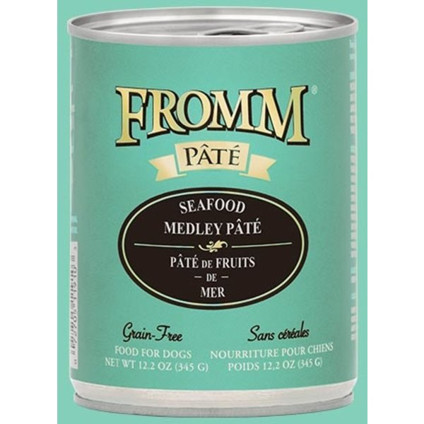 Fromm Seafood Medley Pate Canned Dog Food, 12.2 oz can