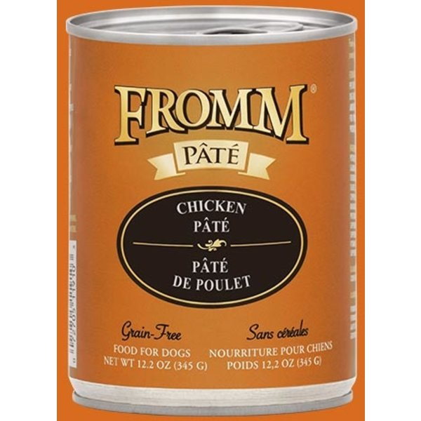 Fromm Chicken Pate Canned Dog Food, 12 oz can