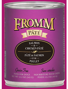 Fromm Salmon & Chicken Pate Canned Dog Food, 12 oz can
