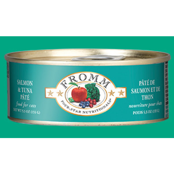 Fromm Salmon and Tuna Pate Cat Can Food, 5.5 oz can