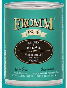Fromm Chicken & Duck Pate Canned Dog Food, 12 oz can