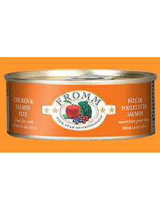 Fromm Four Star Chicken & Salmon Pate Cat Can Food, 5.5 oz can