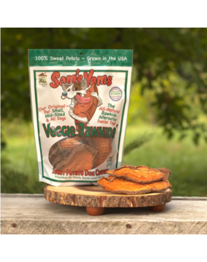 "Front Porch Pets Sam's Yams Veggie ""Rawhide"" Sweet Potato Dog Treat, 14 oz bag"