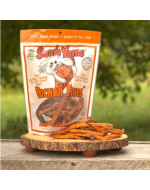 Front Porch Pets Sam's Yams Bichon Fries Sweet Potato Dog Treat, 9 oz bag