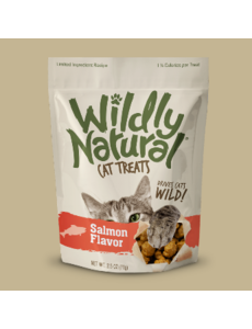 Fruitables Wildly Natural Salmon Cat Treats, 2.5 oz bag