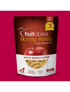 Fruitables Skinny Minis Chewy Apple Bacon Treats, 12 oz bag