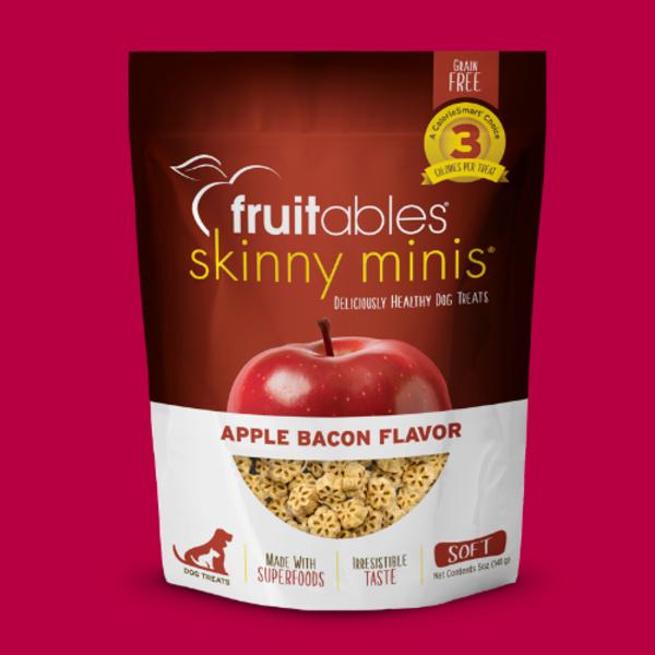Fruitables Skinny Minis Chewy Apple Bacon Treats, 5 oz bag