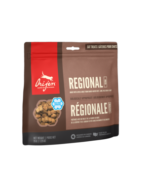 Orijen Regional Red Freeze-Dried Cat Treats, 1.25 oz bag