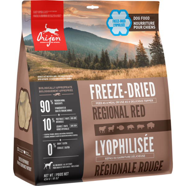 Orijen Regional Red Freeze-Dried Dog Food, 16 oz bag
