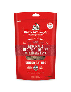 Stella & Chewy Freeze-Dried Raw Dog Food, Red Meat, 14 oz bag