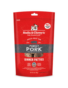 Stella & Chewy Freeze-Dried Raw Dog Food, Pork, 14 oz bag