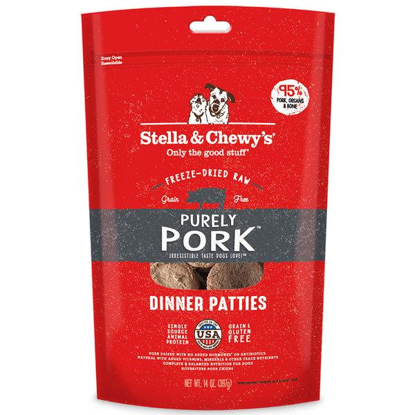 Stella & Chewy Freeze-Dried Raw Dog Food, Pork, 14 oz bag