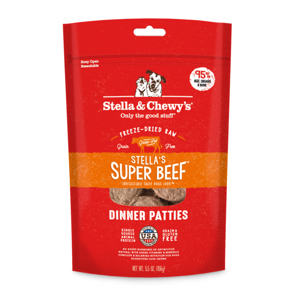 Stella & Chewy Freeze-Dried Raw Dog Food, Beef