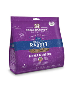 Stella & Chewy Morsels Freeze-Dried Raw Cat Food, Absolutely Rabbit, 8 oz bag