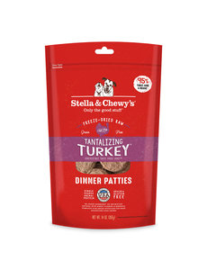 Stella & Chewy Freeze-Dried Raw Dog Food, Tukey, 14 oz bag