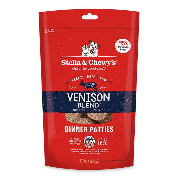 Stella & Chewy Freeze-Dried Raw Dog Food, Venison, 15 oz bag