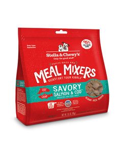 Stella & Chewy Meal Mixers Freeze-Dried Raw Dog Food, Salmon & Cod, 9 oz bag