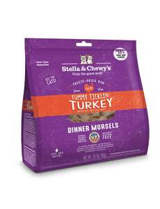 Stella & Chewy Freeze-Dried Raw Cat Food, Turkey, 18 oz bag