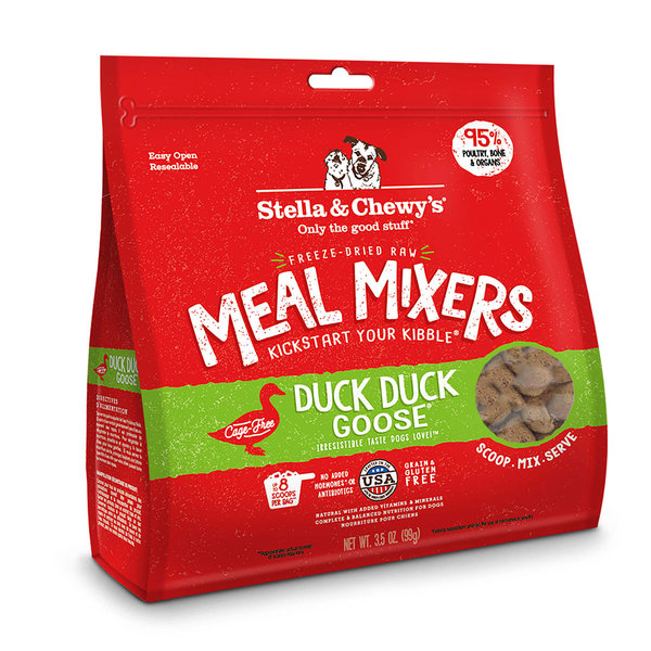 Stella & Chewy Meal Mixers Freeze-Dried Raw Dog Food, Duck, 18 oz bag