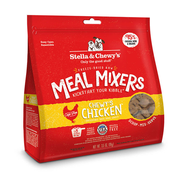 Stella & Chewy Meal Mixers Freeze-Dried Raw Dog Food, Chicken, 18 oz bag