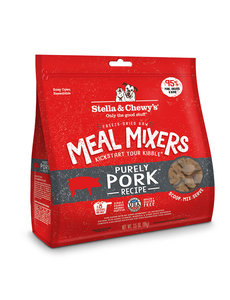 Stella & Chewy Meal Mixers Freeze-Dried Raw Dog Food, Pork, 18 oz bag