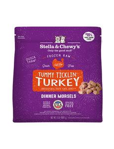 Stella & Chewy Morsels Frozen Raw Cat Food Turkey, 3 lb bag