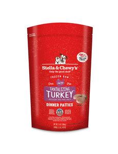 Stella & Chewy Frozen Raw Dog Food Patties, Turkey, 3 lb bag
