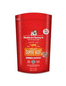 Stella & Chewy Frozen Raw Dog Food Patties, Beef, 3 lb bag