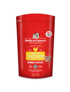 Stella & Chewy Frozen Raw Dog Food Patties, Chicken, 6 lb bag