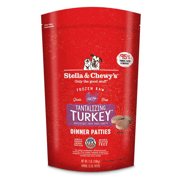 Stella & Chewy Frozen Raw Dog Food Patties, Turkey, 6 lb bag