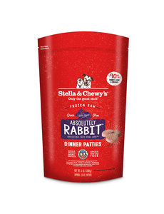 Stella & Chewy Frozen Raw Dog Food Patties, Rabbit