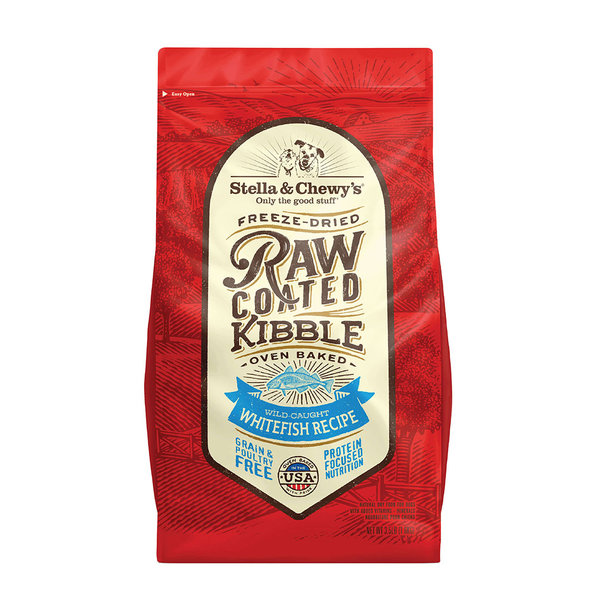 Stella & Chewy Raw-Coated Dry Dog Food, Whitefish