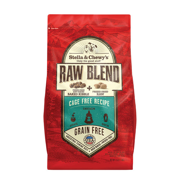 Stella & Chewy Raw Blend Dry Dog Food, Cage Free Recipe