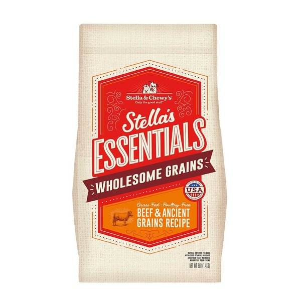 Stella & Chewy Essentials Wholesome Grains Dry Dog Food, Beef