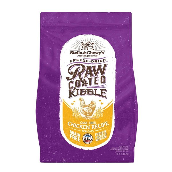 Stella & Chewy Raw-Coated Dry Cat Food, Chicken