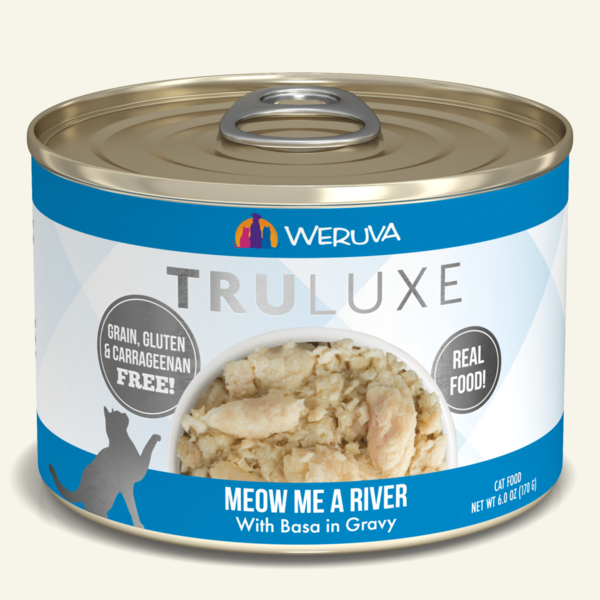 Weruva Truluxe Canned Cat Food, Meow Me a River, 6 oz can
