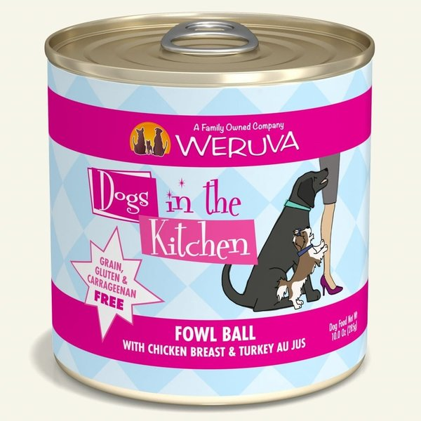 Weruva Dogs in the Kitchen Canned Dog Food, Fowl Ball, 10 oz can