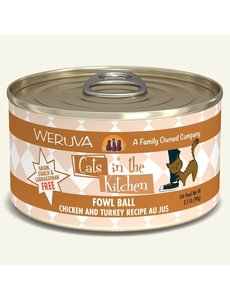 Weruva Cats in the Kitchen Canned Cat Food, Fowl Ball