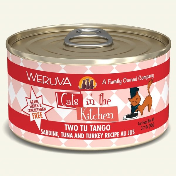 Weruva Cats in the Kitchen Canned Cat Food, Two Tu Tango