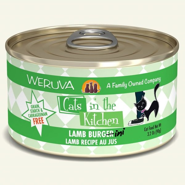 Weruva Cats in the Kitchen Canned Cat Food, Lamb Burger-ini