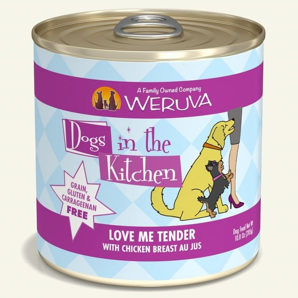 Weruva Dogs in the Kitchen Canned Dog Food, Love Me Tender, 10 oz can