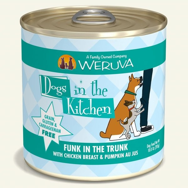 Weruva Dogs in the Kitchen Canned Dog Food, Funk in the Trunk, 10 oz can