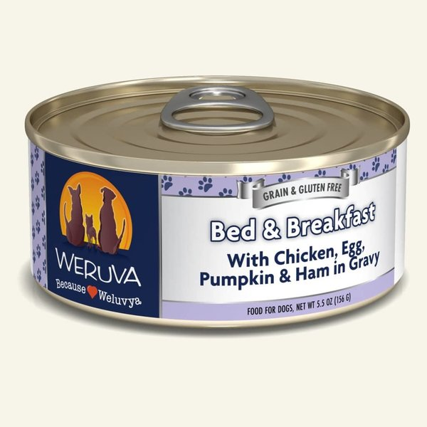Weruva Classic Canned Dog Food, Bed & Breakfast, 5.5 oz can