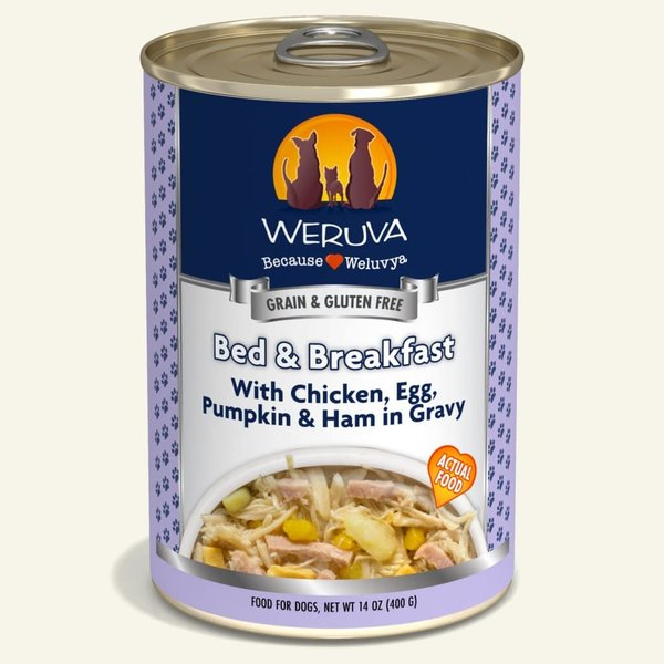 Weruva Classic Canned Dog Food, Bed & Breakfast, 14 oz can
