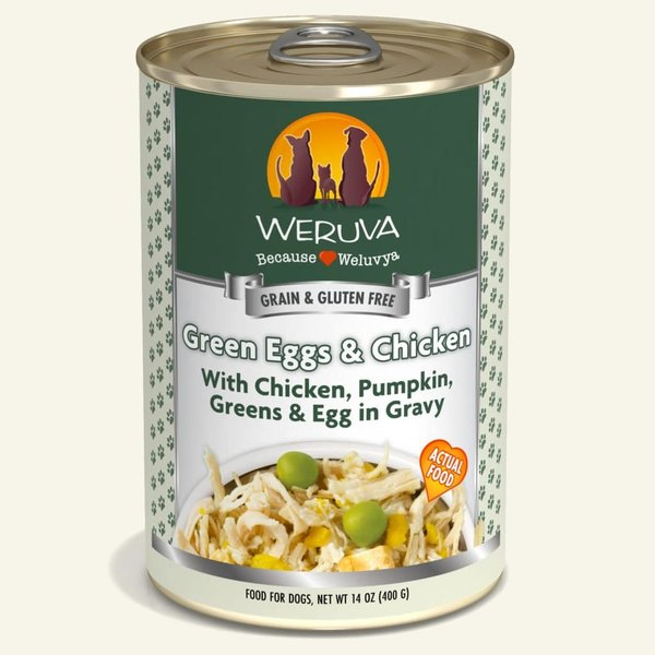 Weruva Classic Canned Dog Food, Green Egg & Chicken, 14 oz can